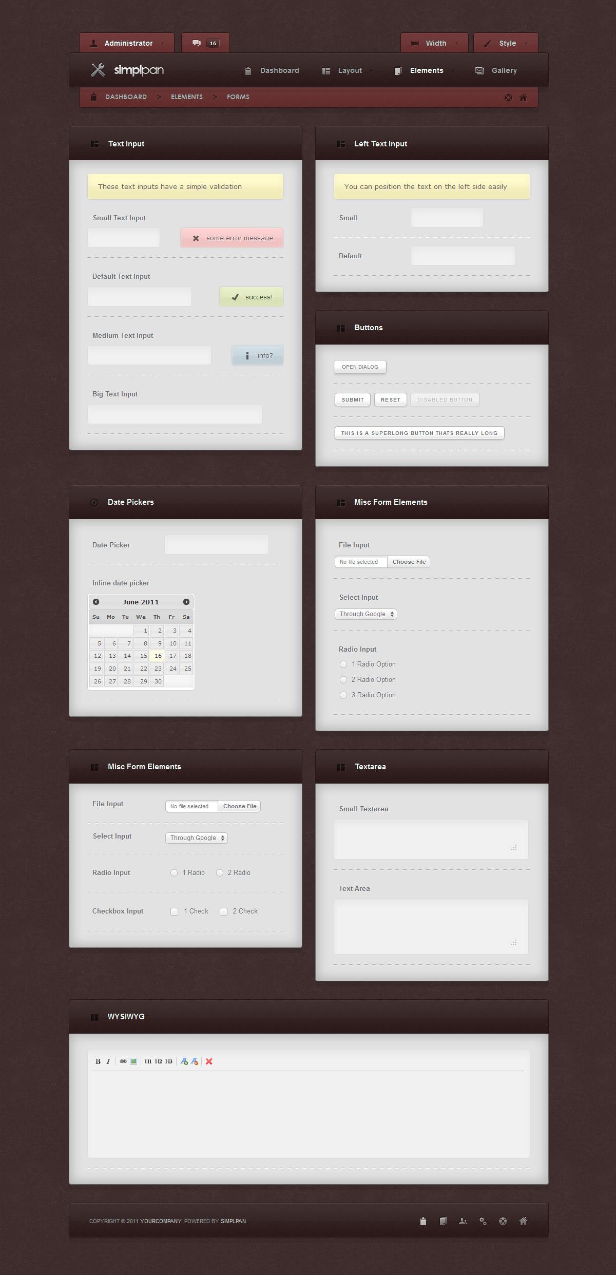 Simplpan Admin Panel Template