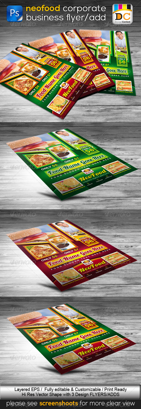 Fast Food & Restaurant Flyer/Poster - Restaurant Flyers
