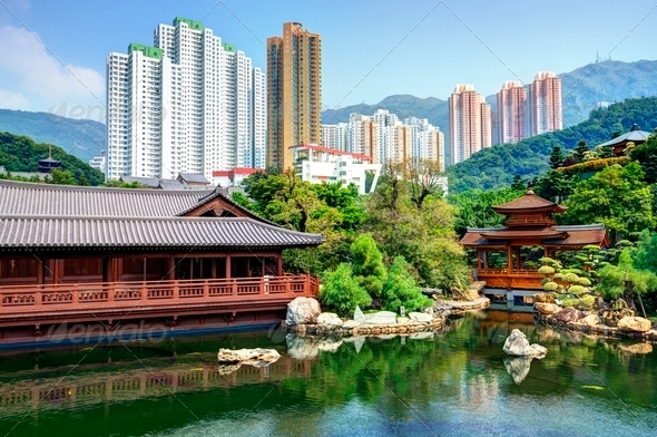 Chinese Garden - Stock Photo - Images