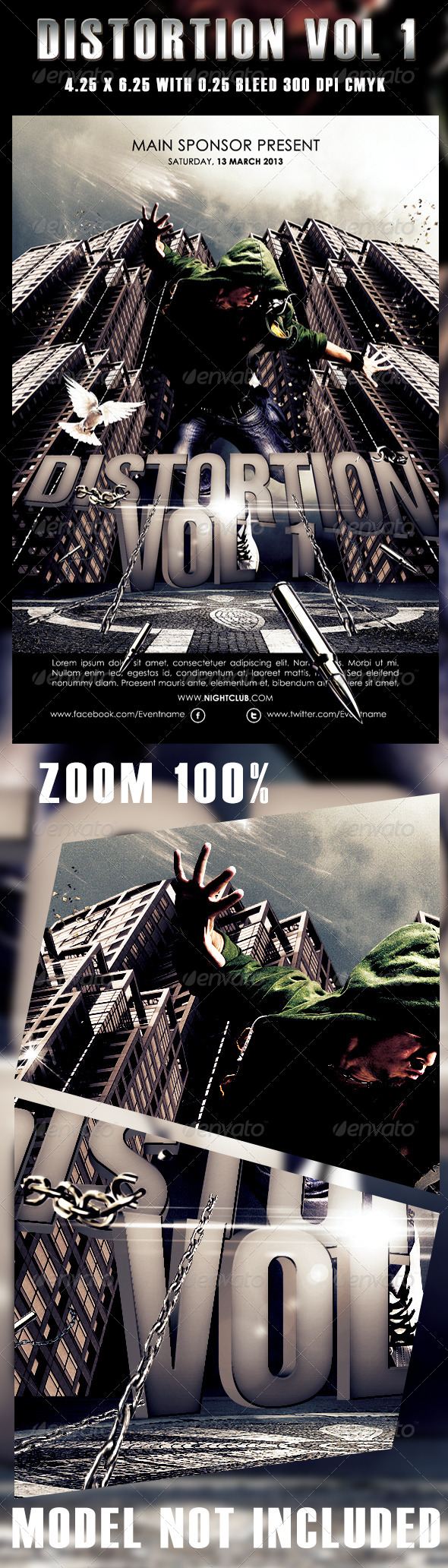GraphicRiver Distortion Vol 1 Flyer Template 3902485