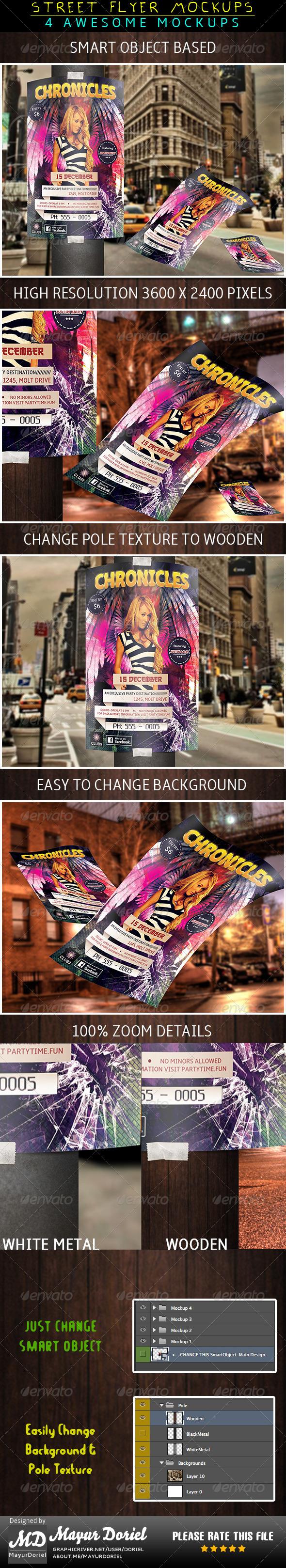 Street Flyer Mockup - Print Product Mock-Ups