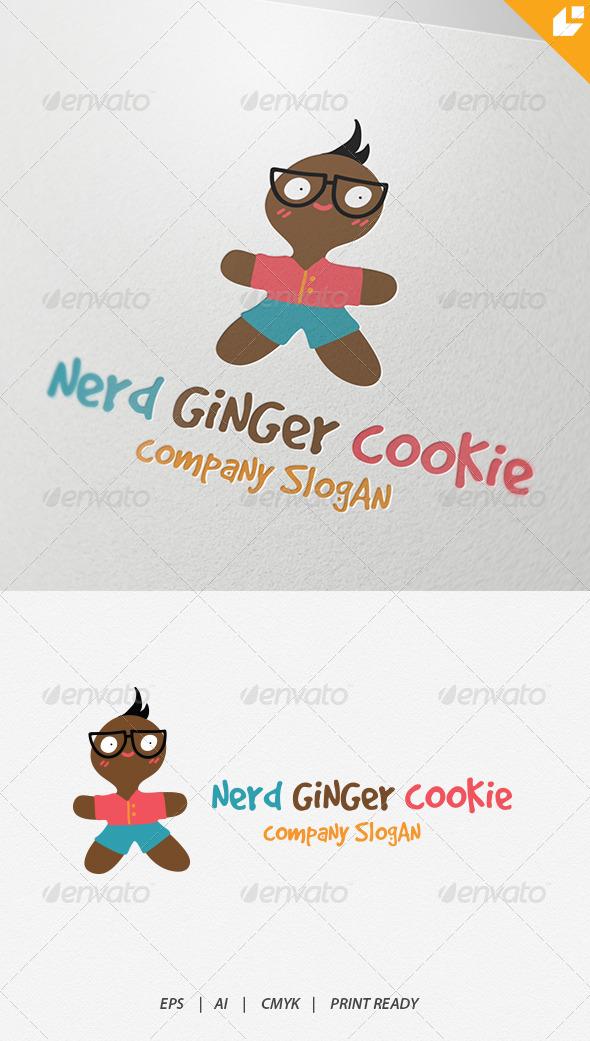 GraphicRiver Nerd Ginger Cookie Logo 4340259