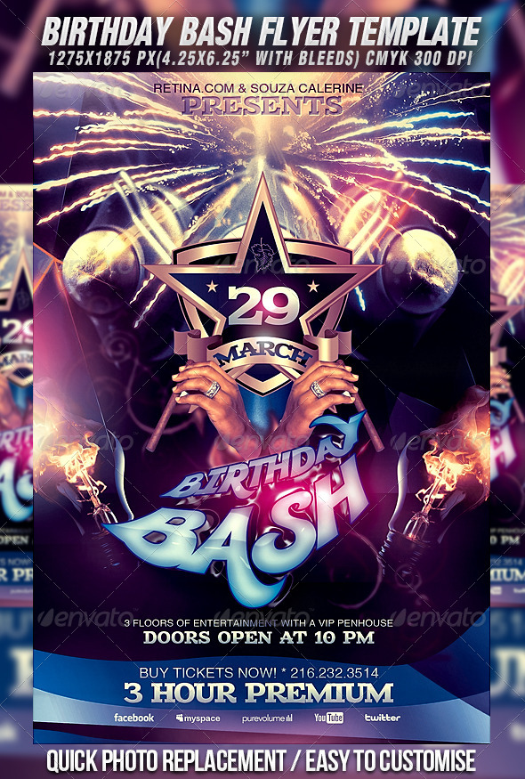 GraphicRiver Birthday Bash Flyer Template 4210912