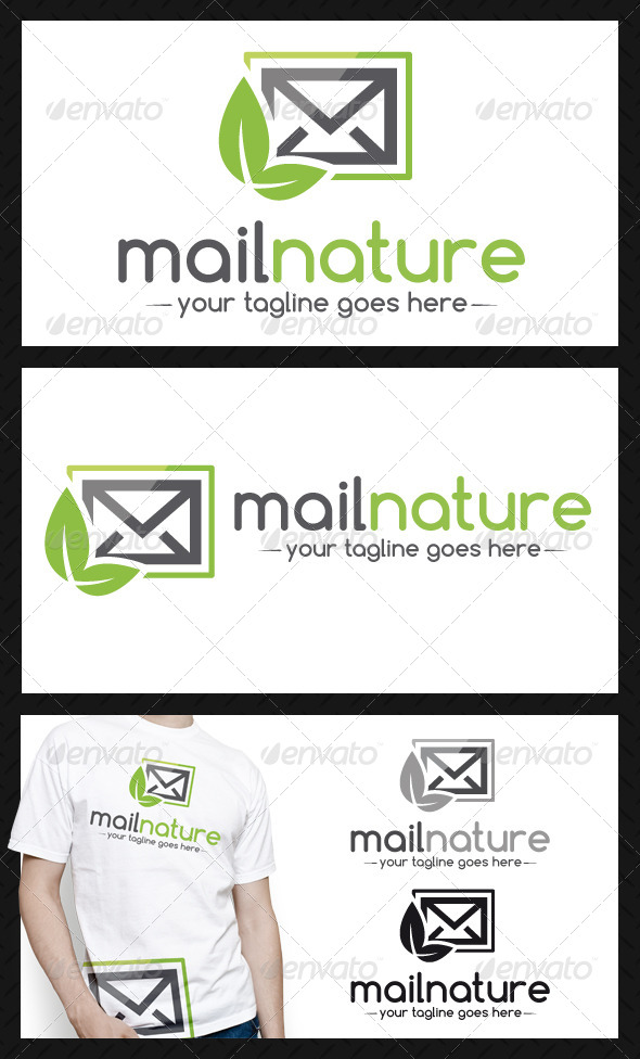 GraphicRiver Mail Nature Logo Template 4340495