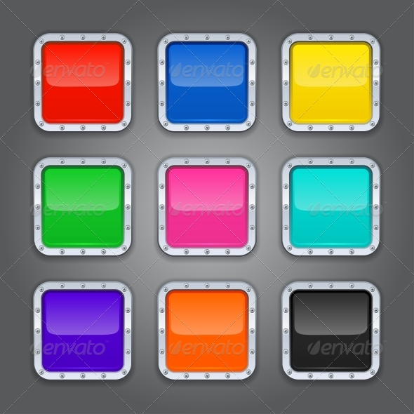 GraphicRiver Set of Backgrounds for App Icons 4340534