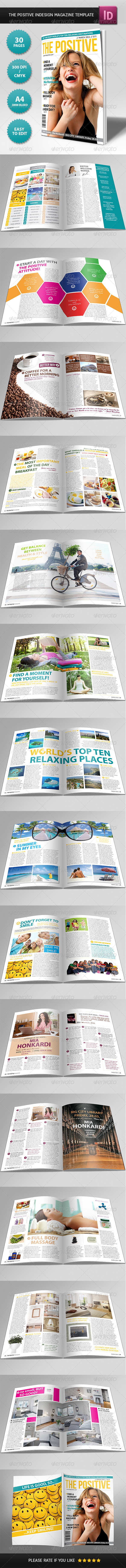 GraphicRiver The Positive Magazine Template 4215795