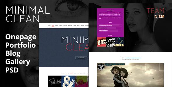 Minimal Clean - Portfolio, Blog, Gallery