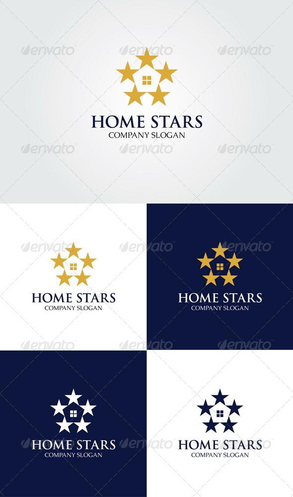 GraphicRiver Home Stars Logo 4165558