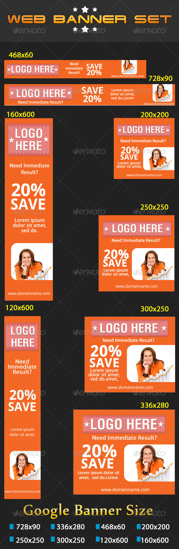 Web Banners Set VOL-01 - Banners & Ads Web Elements
