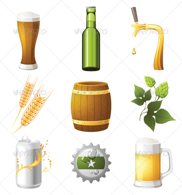 GraphicRiver Beer Icons 4340870