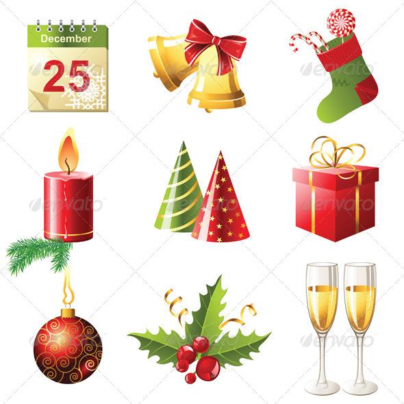 GraphicRiver Christmas Icons 4340906