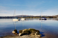Lake Windermere with three boats and a rock - PhotoDune Item for Sale
