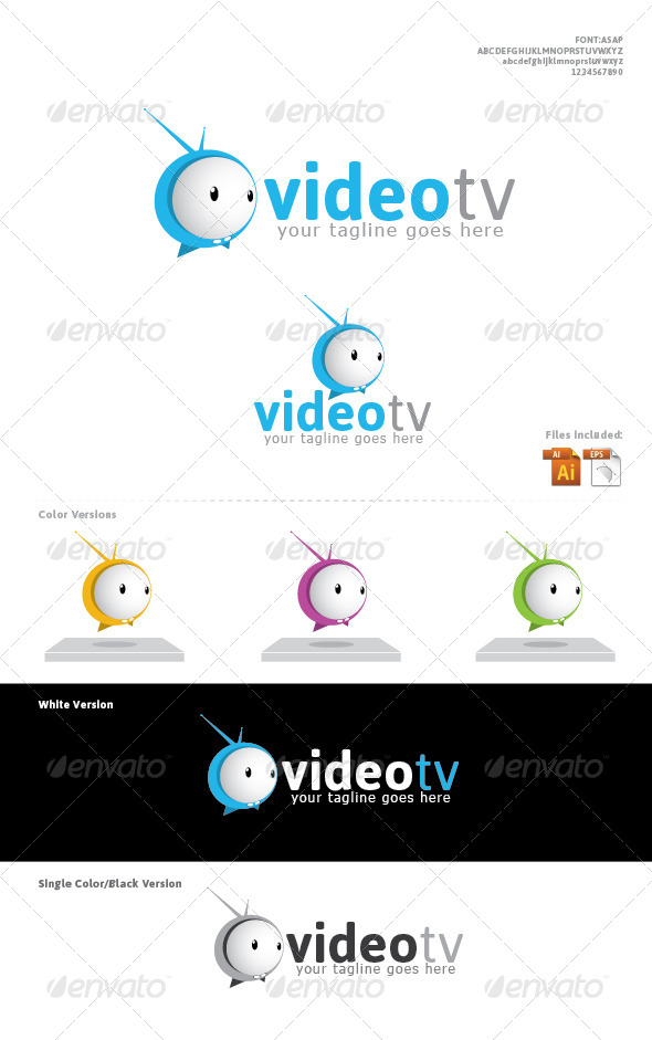 GraphicRiver VideoTv Logo Designed 4232796