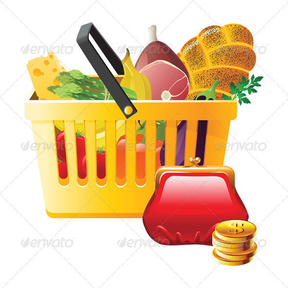 GraphicRiver Full Shopping Basket and Wallet 4340993