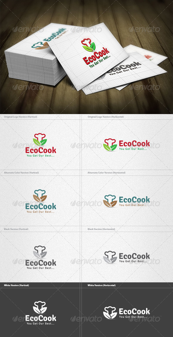 GraphicRiver Eco Cook Logo 4340998