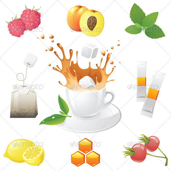 GraphicRiver Tea Icons 4341007