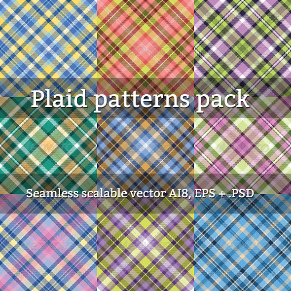 GraphicRiver Seamless Plaid Patterns 4341179
