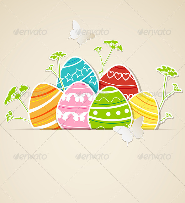 GraphicRiver Paper Easter Background 4341203