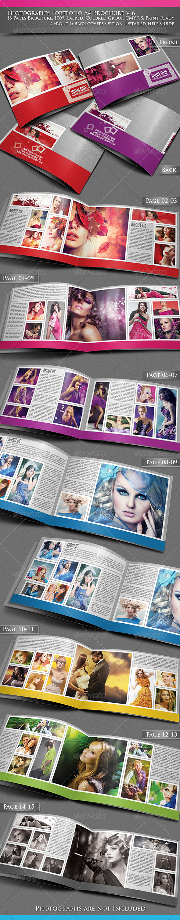 GraphicRiver Photography Portfolio A4 Brochure V6 4341241