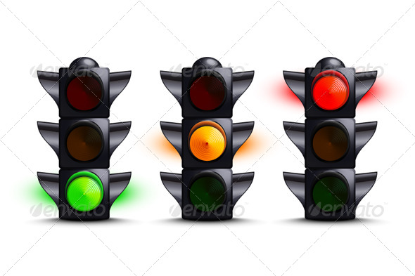 Traffic Lights - Objects Vectors