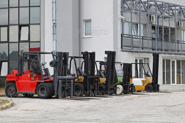 Forklifts - Stock Photo - Images