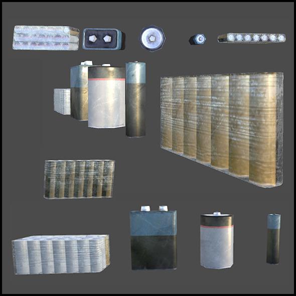 Batteries - 3DOcean Item for Sale