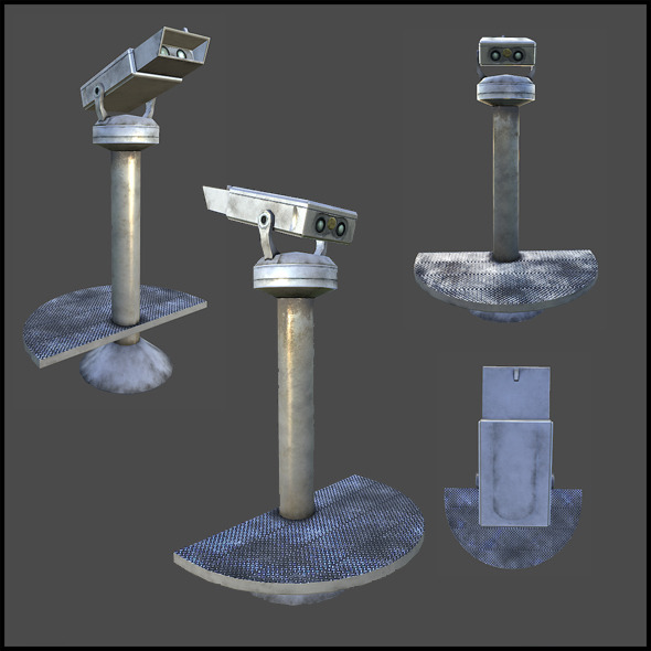 Public Binoculars - 3DOcean Item for Sale