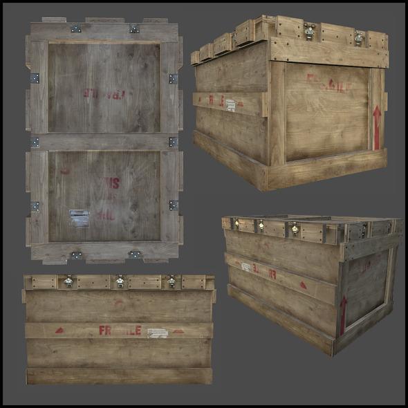 3DOcean Cargo Crate 4341972