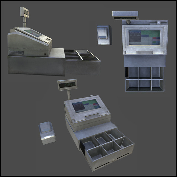 Cash Register - 3DOcean Item for Sale