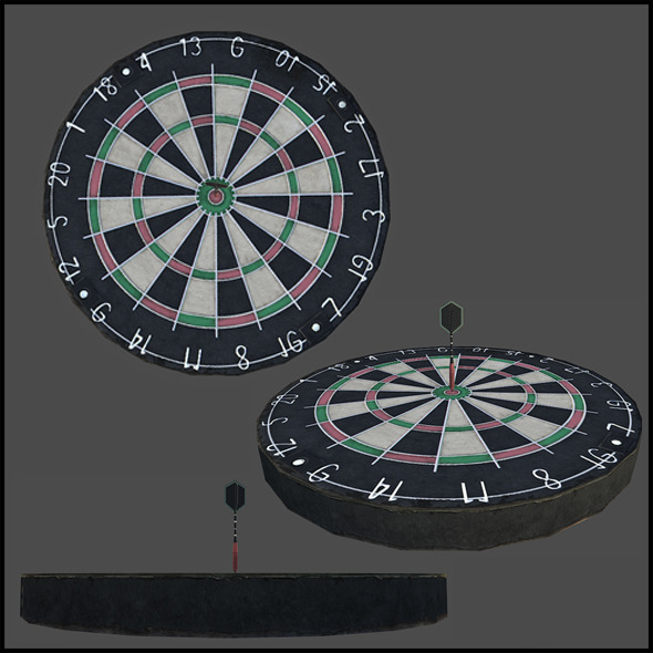 Dart and a Dartboard  - 3DOcean Item for Sale