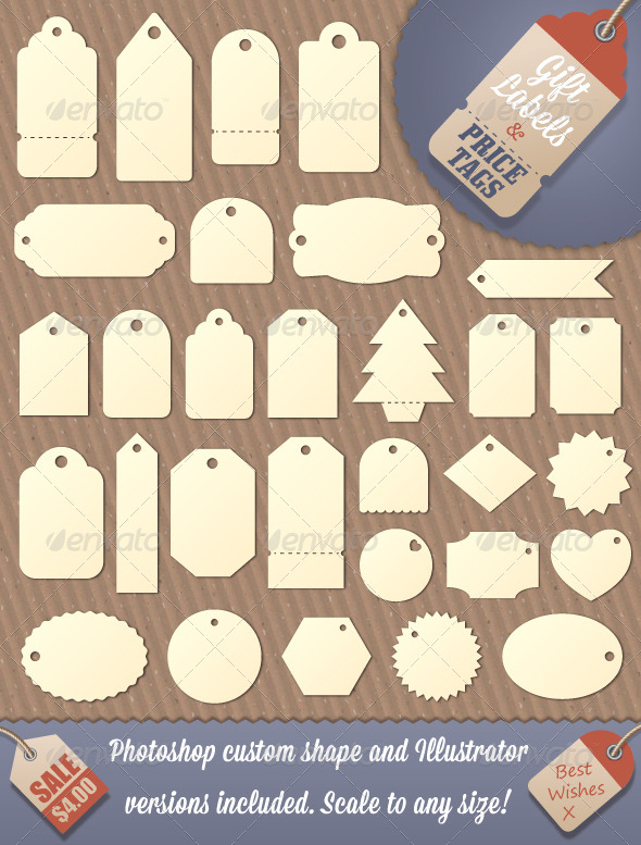 GraphicRiver Gift Tag and Price Label Shapes 4342353