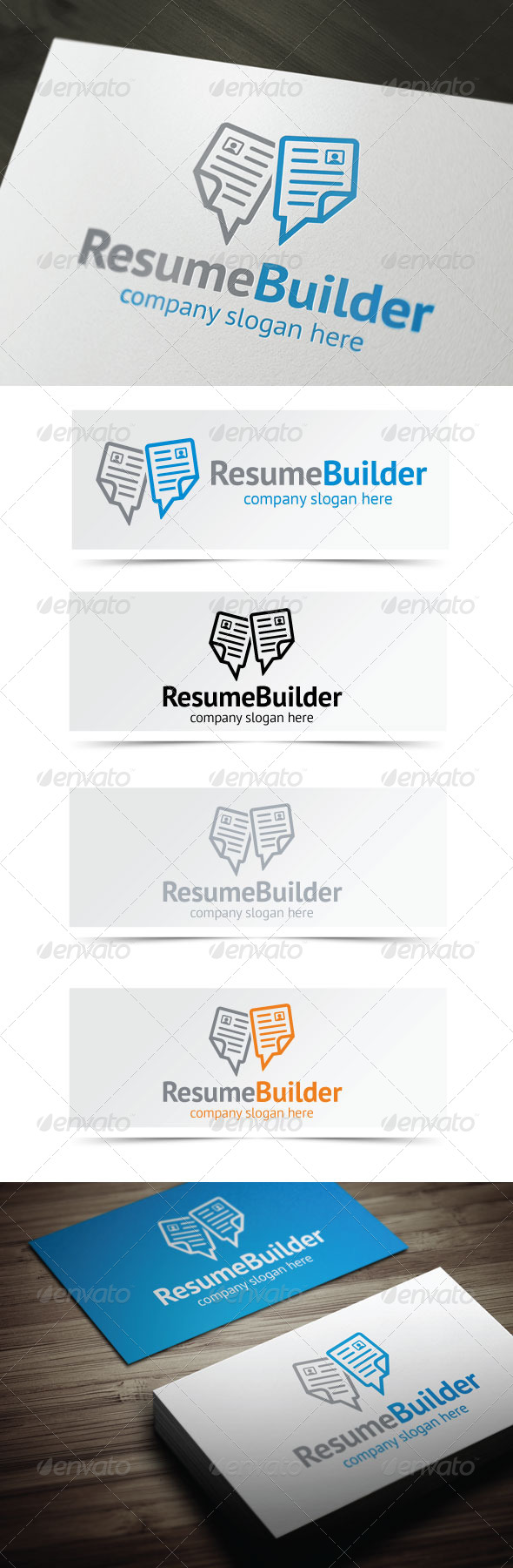 GraphicRiver Resume Builder 4342599