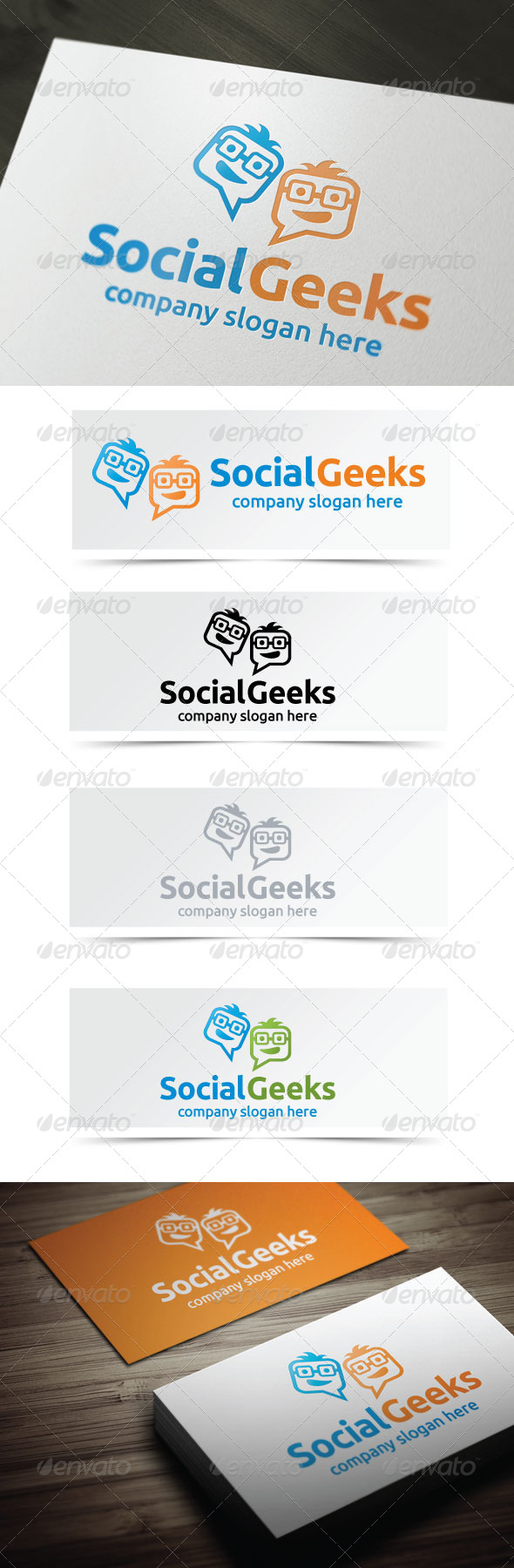 Social Geeks - Humans Logo Templates