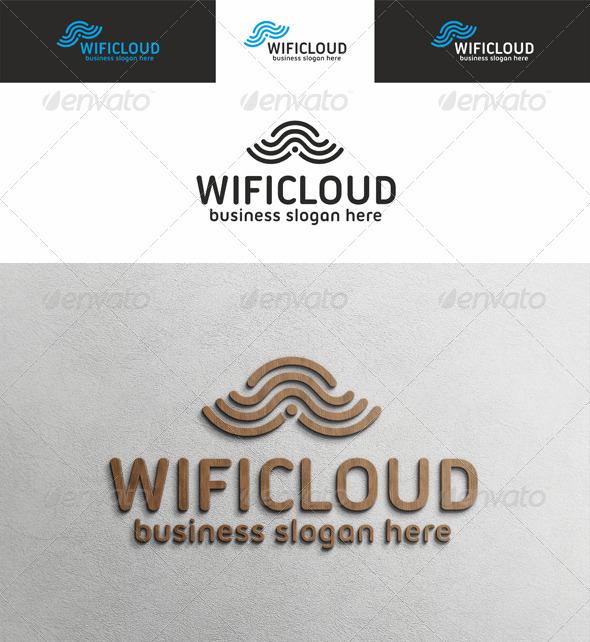 Wi Fi Cloud Logo - Symbols Logo Templates