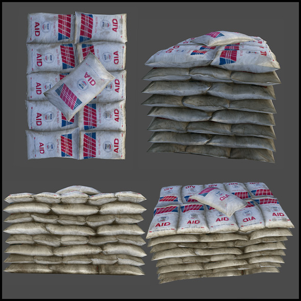 Relief Supply Bags - 3DOcean Item for Sale