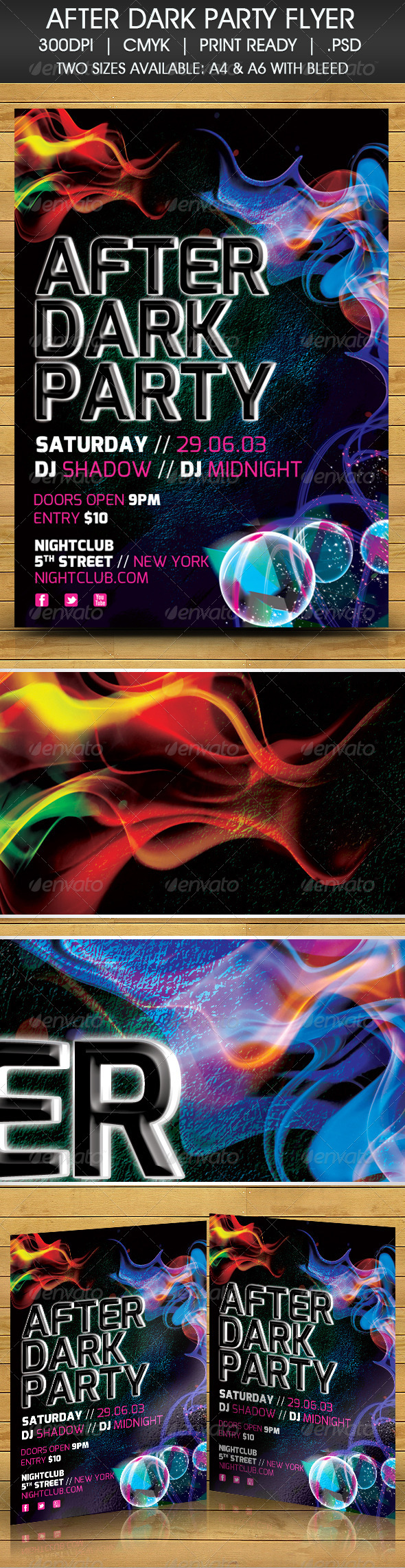 GraphicRiver After Dark Party Flyer 4343204