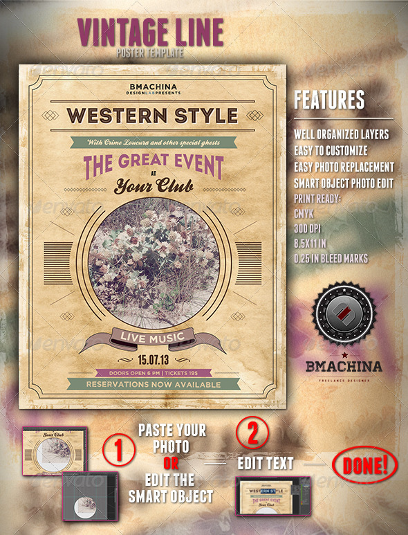 GraphicRiver Poster Template Modern Western Style 4343232