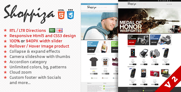 Shoppiza Responsive Html 5 Opencart Theme - OpenCart eCommerce