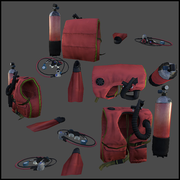 Scuba Gear - 3DOcean Item for Sale