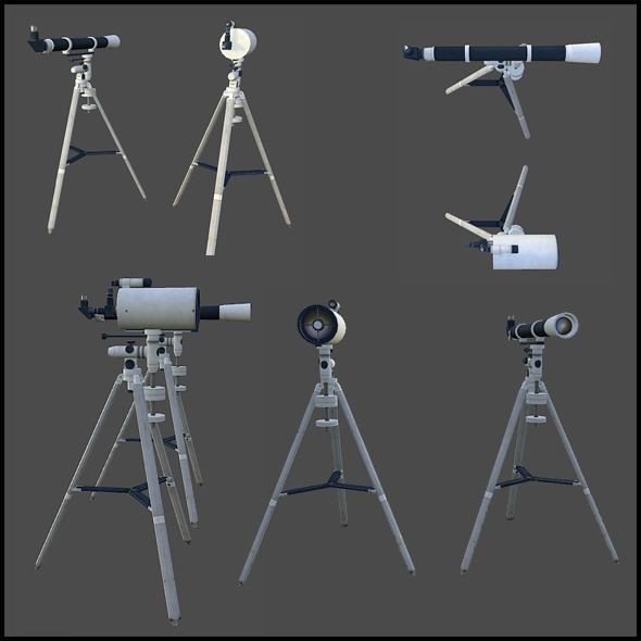 Telescopes - 3DOcean Item for Sale
