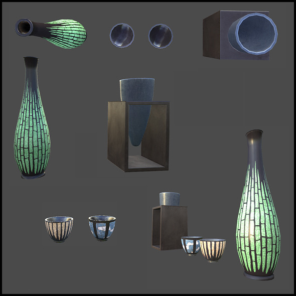 3DOcean Vases Set 4343356