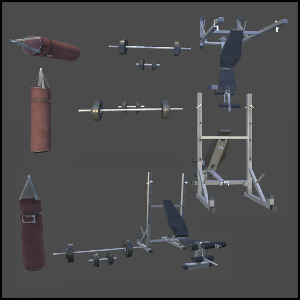 3DOcean Workout Props 4343363