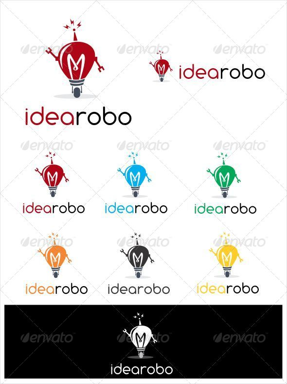 GraphicRiver Idea Robo Logo 4343390