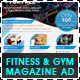 Fitness & Gym - Sports Magazine Ad - GraphicRiver Item for Sale