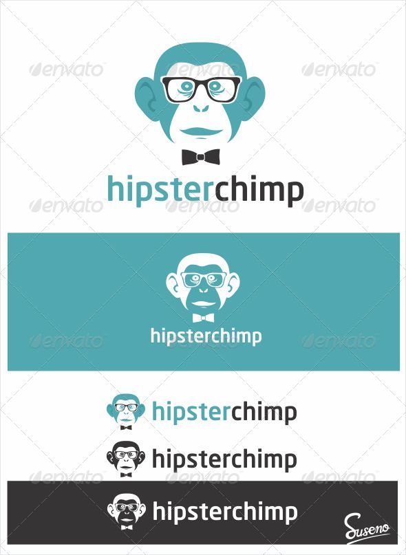 GraphicRiver Hipster Chimp Logo 4343439