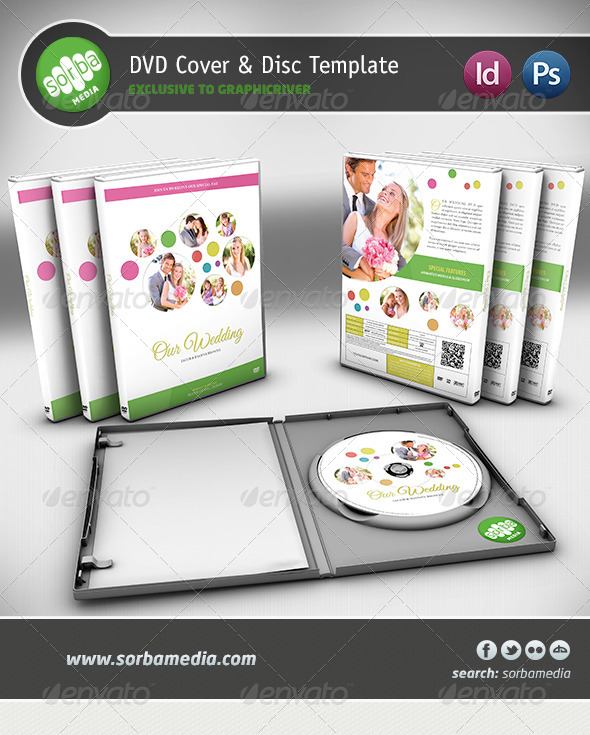 GraphicRiver Wedding DVD Cover Template 4228416