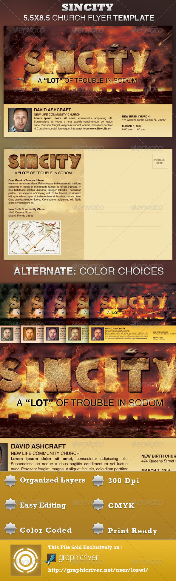 GraphicRiver SinCity Church Flyer Template 4224818