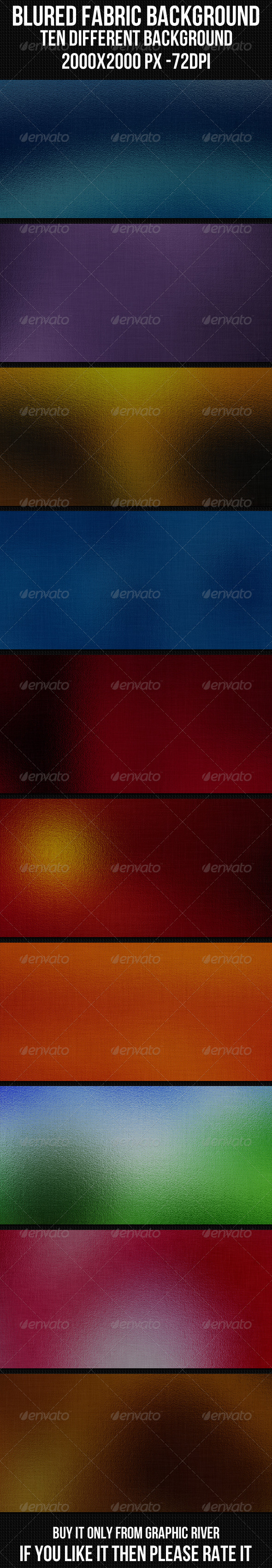 GraphicRiver Blured Fabric Background Set 4344093