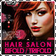 Hair Salon Fashion Style Bifold + Trifold - GraphicRiver Item for Sale