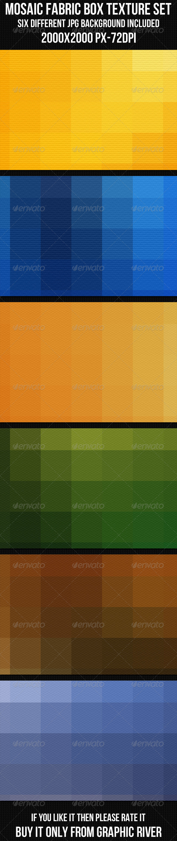 GraphicRiver Mosaic Fabric Box Texture Set 4344229